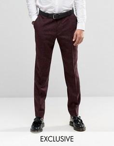 Строгие зауженные брюки в крапинку Heart & Dagger - Красный