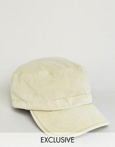 Кепка песочного цвета в армейском стиле Reclaimed Vintage - Бежевый
