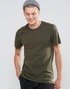 Меланжевая футболка HUF - Зеленый