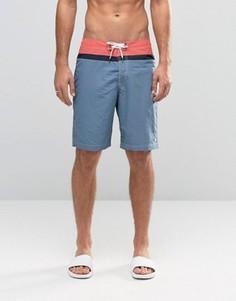 Пляжные шорты в стиле колор блок Abercrombie & Fitch - Красный