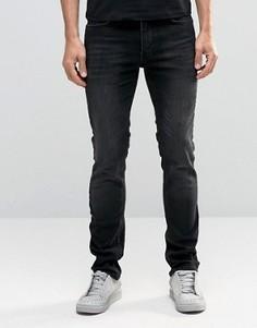 Выбеленные черные джинсы слим Religion Noize - Черный