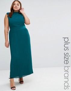 Платье макси размера плюс с плиссированной юбкой Lovedrobe - Темно-синий