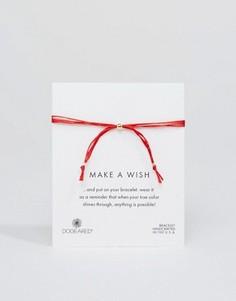 Регулируемый браслет из красных шелковых нитей Dogeared Make A Wish - Красный