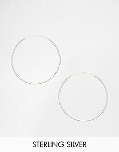 Серебряные серьги‑кольца 35 мм Kingsley Ryan - Серебряный