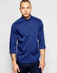Эластичная рубашка Dickens and Browne - Темно-синий