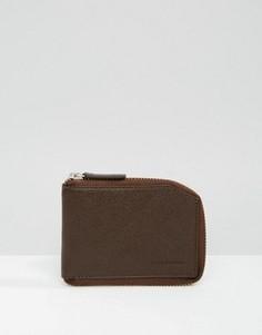 Коричневый бумажник на молнии Royal RepubliQ Fuze - Коричневый