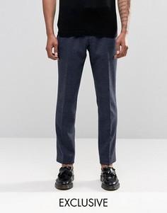 Узкие брюки в клетку Noak - Темно-синий