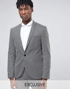 Пиджак из монохромной фактурной ткани Noak - Черный