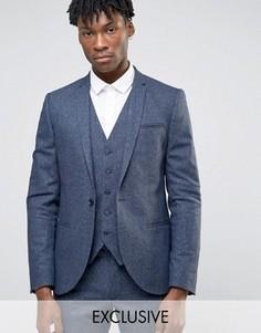 Супероблегающий пиджак в крапинку Noak - Темно-синий