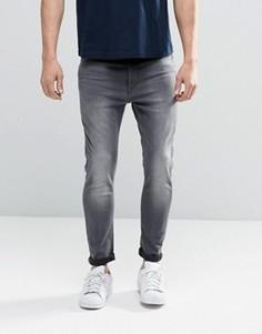 Серые джинсы скинни с молнией сзади G-Star Type C 3D - Серый