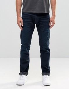 Темные эластичные суженные к низу джинсы ограниченной серии Replay 901 - Синий