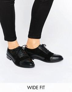 Кожаные броги на широкую ногу ASOS MAKE-UP - Черный