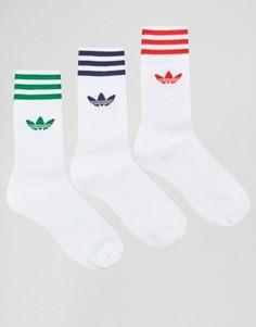 3 пары белых носков adidas Originals AY8707 - Белый