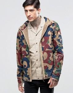 Куртка с капюшоном и камуфляжным принтом Pretty Green - Красный