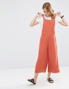 Комбинезон с широкими штанинами ASOS - Оранжевый