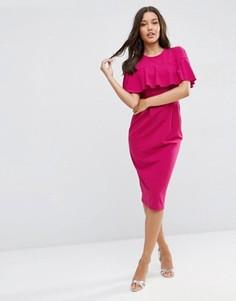 Платье-футляр с оборками на рукавах ASOS - Красный