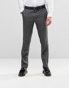 Суперзауженные брюки в ломаную клетку Farah - Серый