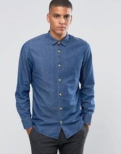 Джинсовая рубашка с деревянными пуговицами Esprit - Синий