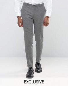 Монохромные фактурные зауженные брюки с отворотами Noak - Черный