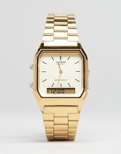 Электронные часы-браслет Casio AQ-230GA-9DMQYES - Золотой