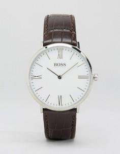 Часы с коричневым кожаным ремешком BOSS By Hugo Boss Ultra Jackson - Коричневый