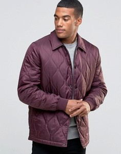 Бордовая стеганая куртка ASOS - Красный