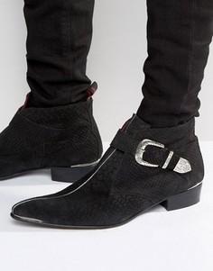 Ботинки с пряжкой Jeffery West Adam Ant - Черный