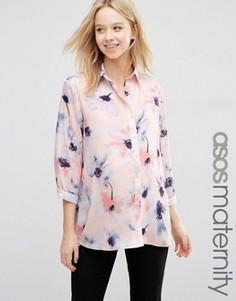 Oversize-блузка для беременных с цветочным принтом ASOS Maternity - Мульти