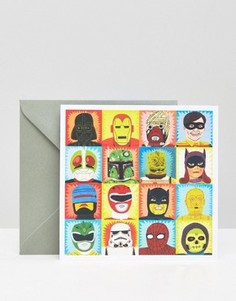 Поздравительная открытка Heroes and Villains Toasted - Мульти Gifts