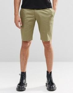 Строгие облегающие шорты цвета хаки Religion - Зеленый