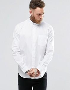 Белая оксфордская рубашка классического кроя с карманом Paul Smith - Белый