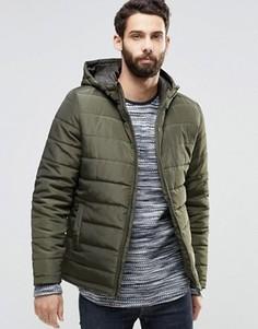 Стеганая куртка с капюшоном Only & Sons - Зеленый