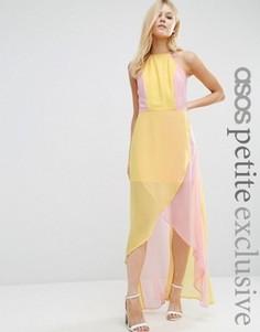 Платье макси колор блок ASOS PETITE - Розовый