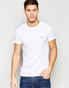 Белая футболка слим с логотипом-флажком Tommy Hilfiger - Белый