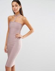 Облегающее платье‑чокер Missguided - Фиолетовый