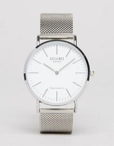 Классические часы с серебристым сетчатым ремешком Reclaimed Vintage - Золотой