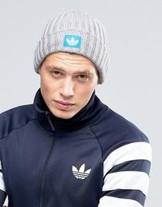 Серая шапка-бини adidas Originals AY9309 - Серый