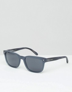 Синие солнцезащитные очки в стиле ретро Giorgio Armani - Синий