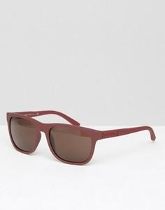 Красные солнцезащитные очки в стиле ретро Giorgio Armani - Красный