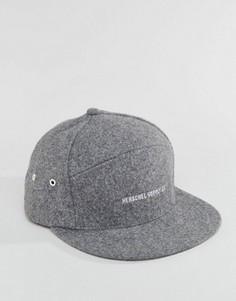 Серая кепка из плотного шерстяного сукна Herschel Supply Co Foster - Серый