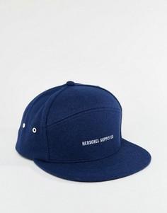Темно-синяя кепка из плотного шерстяного сукна Herschel Supply Co Foster - Темно-синий