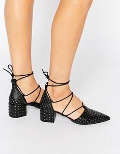 Черные кожаные туфли на каблуке с заклепками Senso Gabriella I - Черный