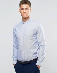 Белая рубашка узкого кроя из ткани добби Sliver Eight - Синий