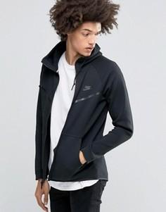 Черная флисовая ветровка Nike Tech 805144-010 - Черный