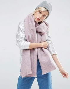Двухцветный тканый oversize-шарф ASOS - Розовый