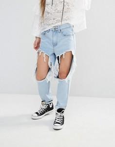 Рваные джинсы Boohoo - Синий