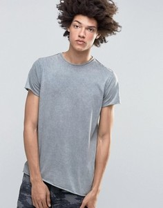 Облегающая футболка с эффектом деграде Kubban Denim - Серый