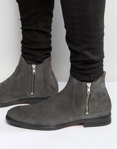 Замшевые ботинки на молнии Hudson London Mitchell - Серый