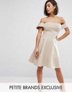 Пышное платье миди для выпускного True Decadence Petite - Рыжий