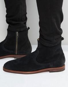 Замшевые ботинки на молнии Hudson London - Черный